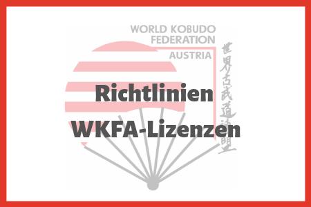 Richtlinien der WKFA-Lizenzen
